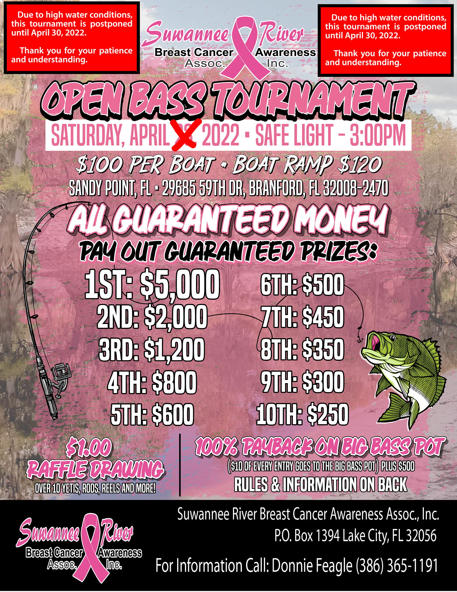 Bass Tournament Information